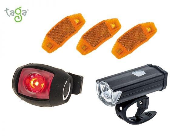 Ночной комплект фонарей для велосипеда
