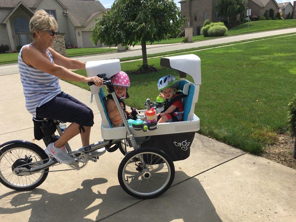 Bicicletta Elettrica Pieghevole Per Trasporto Di Bambini