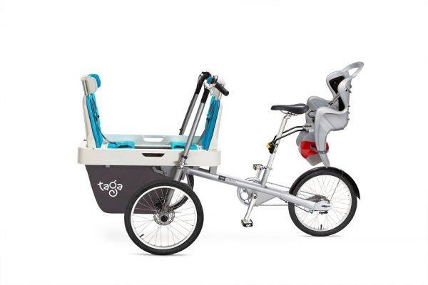 Bicicletta trasporto 3 bambini da 1-8 anni