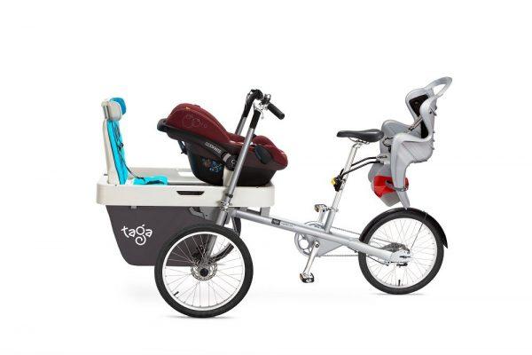 Bicicletta trasporto 3 bambini_1 neonato e 2 bambini 1-8 anni