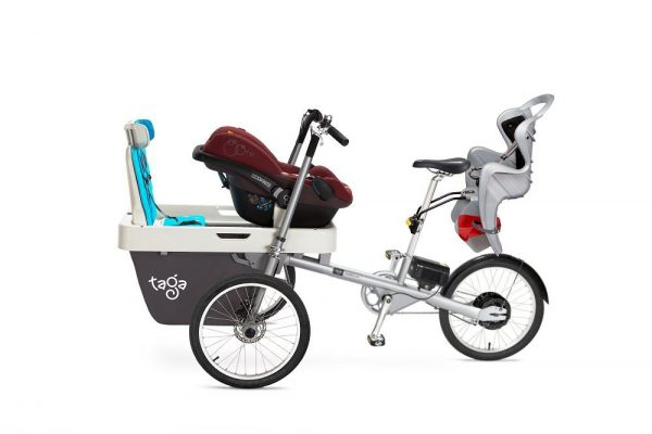 Elettrica Bicicletta trasporto 3 bambini_1 neonato e 2 bambini 1-8 anni