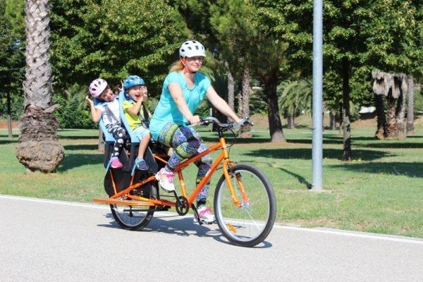Family Bike R3 trasporto 2 bambini da 1 a 5 anni