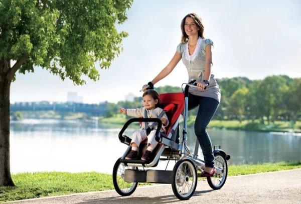 Portare un bambino in bicicletta