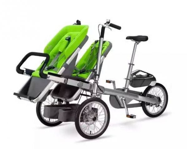 Taga bici elettrica per trasporto bambini da 6 mesi a 6 anni